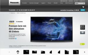 4K Ultra HD-TVs der Superlative: Panasonic AXW904- und XW944-Serie