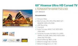 Hisense 65XT910: 65-Zöller mit 4K und dem Potenzial zum Geheimtipp