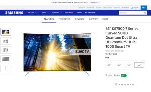 Samsung UE55 KS7500: Gebogene Eleganz