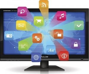 Flachbildschirm mit Apps