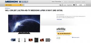 Screenshot der Produktseite