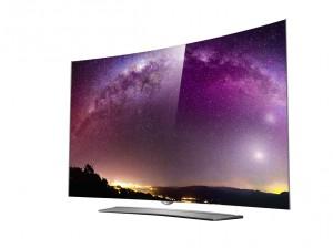 LG bietet erste 4K Smart TV mit geschwungenem Bildschirm an